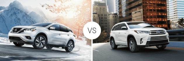 2017 Nissan Murano vs 2017 Toyota Highlander